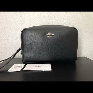 NWT Coach Crossgrain Boxy Cosmetic Case